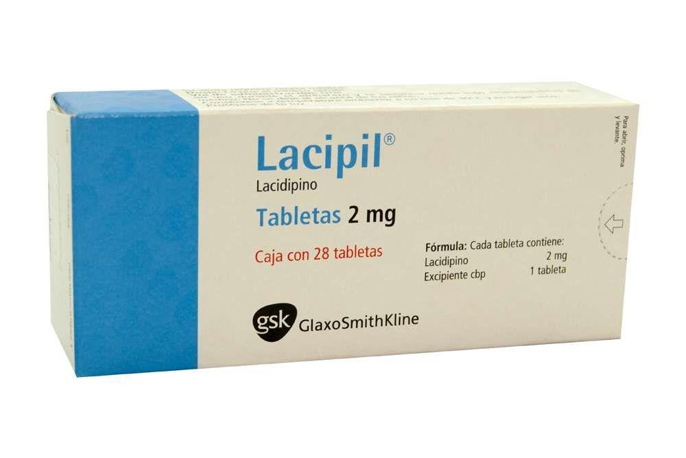 Lacipil 2 mg Caja Con 28 Tabletas