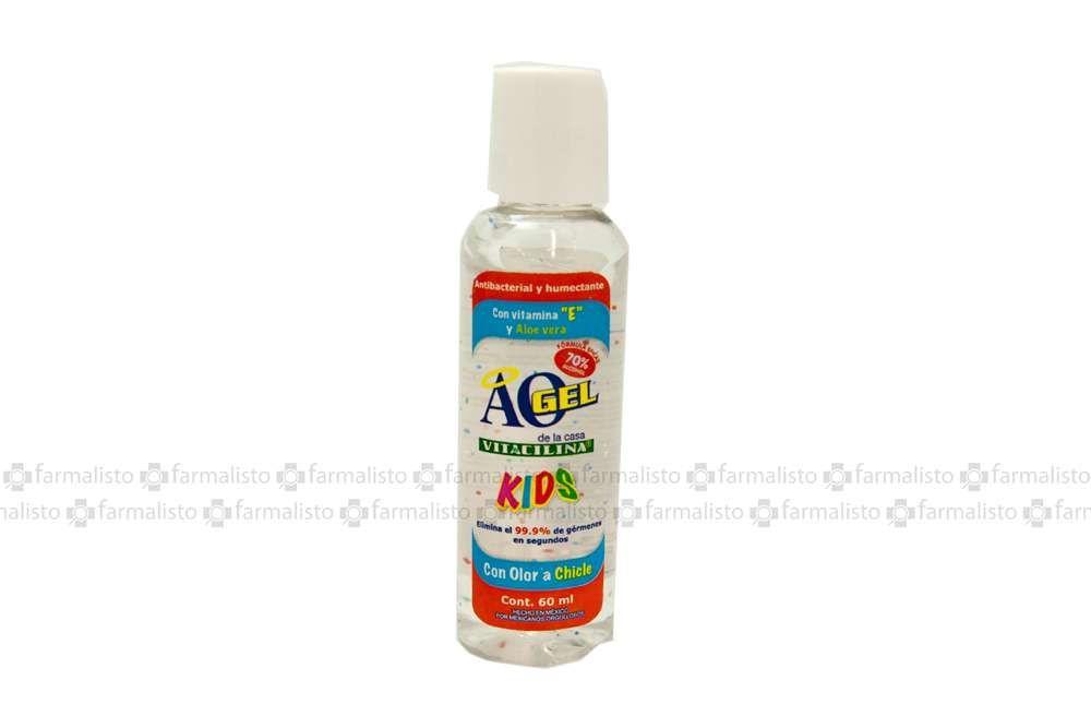 AO Gel Kids Antibacterial Botella Con 60mL Olor Chicle