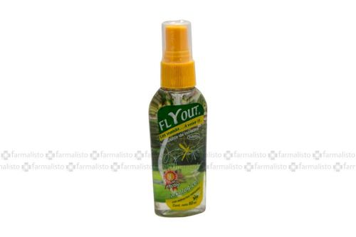 Flyout Repelente De Insectos Frasco Spray Con 60 mL - Piel