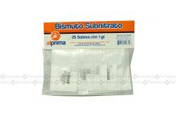 Bismuto Subnitrato 1 g Bolsa Con 25 Sobres
