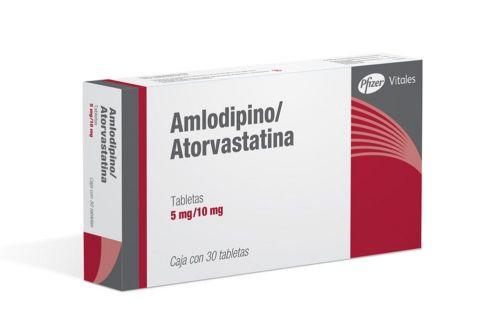 Amlodipino/Atorvastatina 5/10mg Caja Con 30 Tabletas – Hipertensión