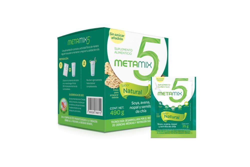 Metamix 5 Caja con 14 Sobres 35g C/U - Suplemento Alimenticio