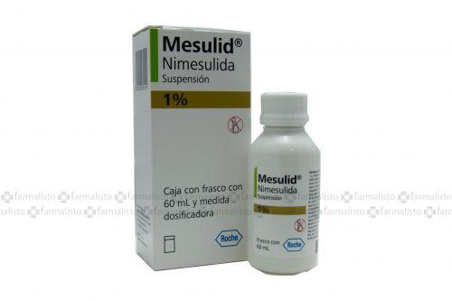 Mesulid 1% Caja Con Un Frasco Con 60 mL