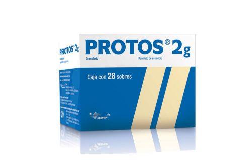 Protos Granulado Caja Con 28 Sobres De 2 g Cada Uno - Osteoporosis