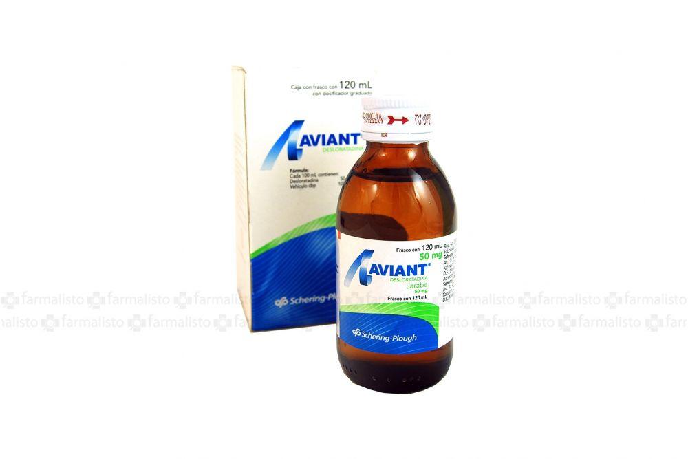 Aviant Jarabe 50 mg Caja Con Frasco Con 120 mL