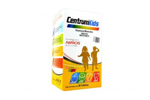 Centrum Kids Caja Con Frasco Con 60 Tabletas Masticables - Suplemento