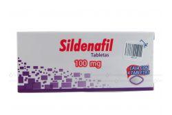 Sildenafil 100 mg Caja con 4 tabletas