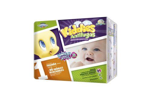 Kiddies Antifugas Bolsa Con 20 Pañales Talla 1 Recién Nacido
