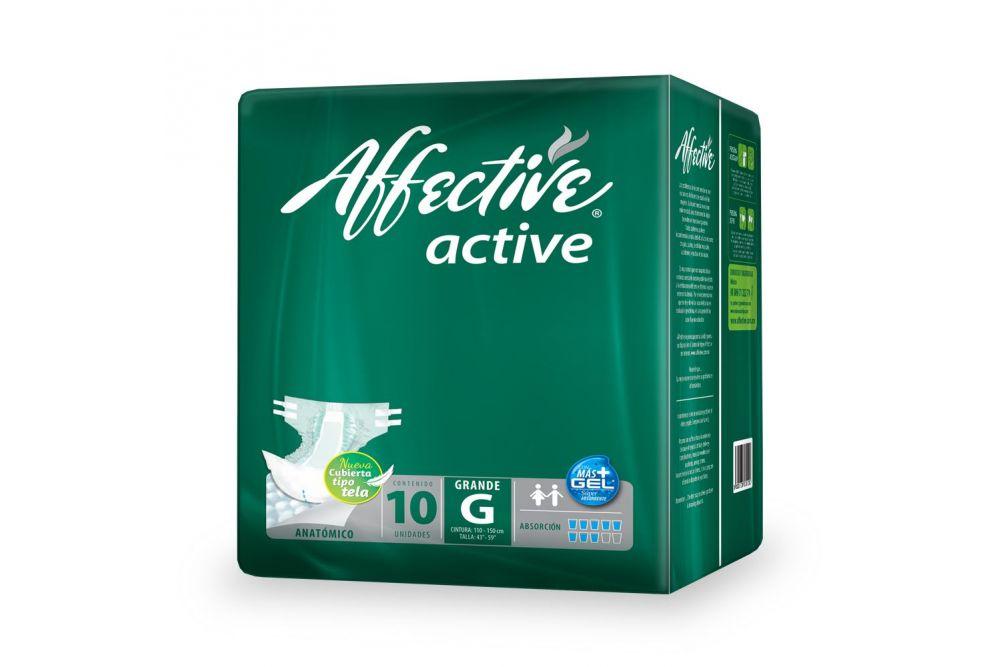 Pañal Affective Active Talla G Empaque Con 10 Piezas