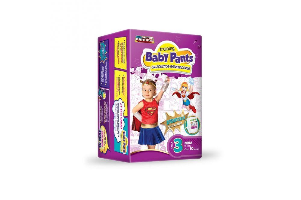 Baby Pants Calzón Entrenador Niña Talla 3 Bolsa Con 10 Piezas
