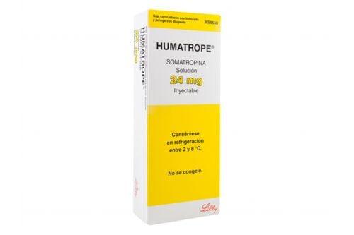 Humatrope Solución 24 mg Inyectable Caja Con Cartucho Con Polvo Liofilizado y jeringa con Diluyente - RX3