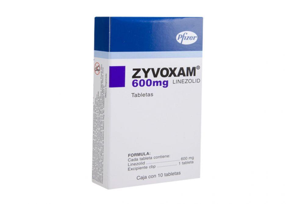 Zyvoxam 600 mg Caja Con 10 Tabletas - RX2