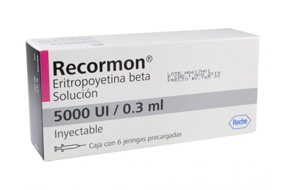 Recormon Solución 5000 UI / 0.3 mL Inyectable Caja Con 6 Jeringas Precargadas - RX3