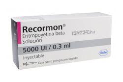 Recormon Solución 5000UI/0.3mL Inyectable Caja Con 6 Jeringas Precargadas - RX3