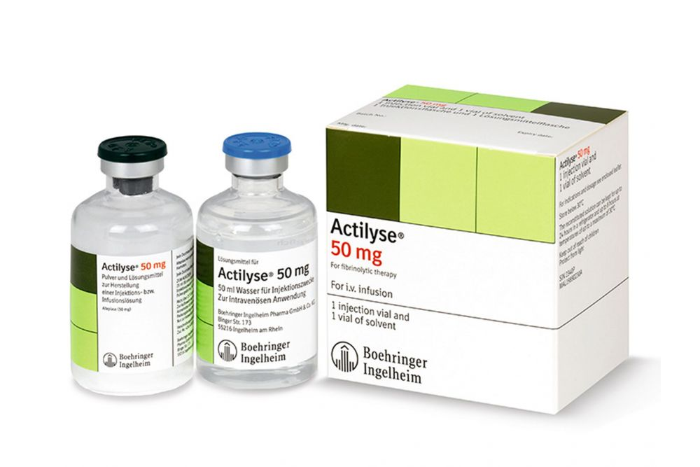 Actilyse 50 mg Caja Con 2 Frascos Ámpula