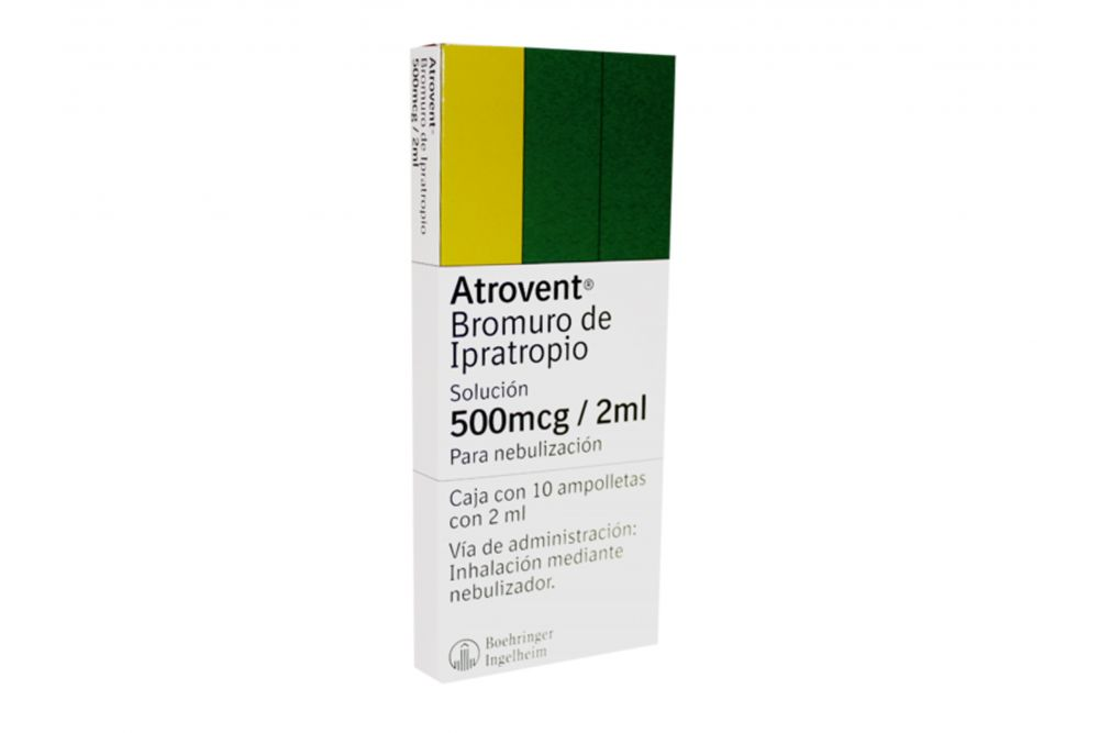 Atrovent 500mcg/2mL Caja Con 10 Ampolletas