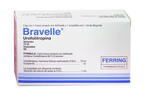 Bravelle 75 UI Solución Inyectable Caja Con 1 Frasco Ámpula