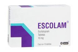 Escolam 10 mg Caja Con 15 Tabletas