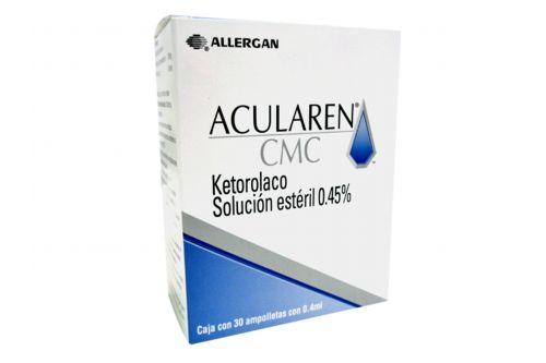 Acularen CMC 0.45% Caja Con 30 AMpolletas Con 0.4 mL