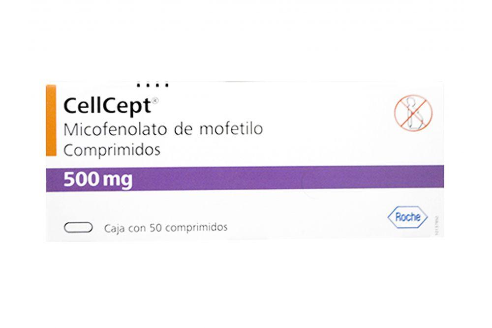 Cellcept 500 mg Caja con 50 Comprimidos