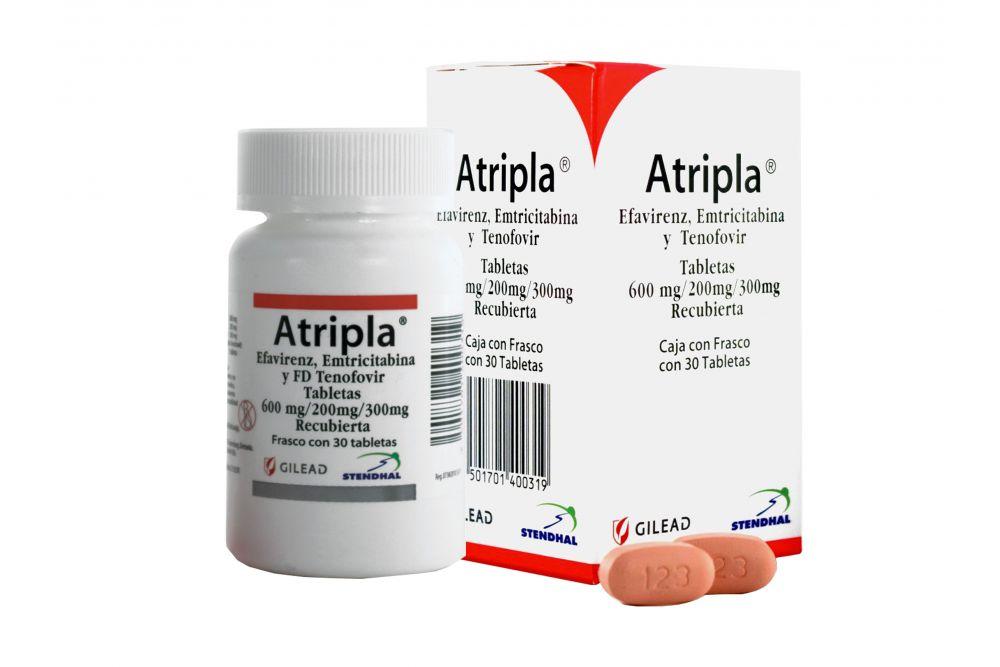 Atripla 600 mg / 200 mg / 300 mg Caja Con Frasco de 30 Tabletas Recubiertas