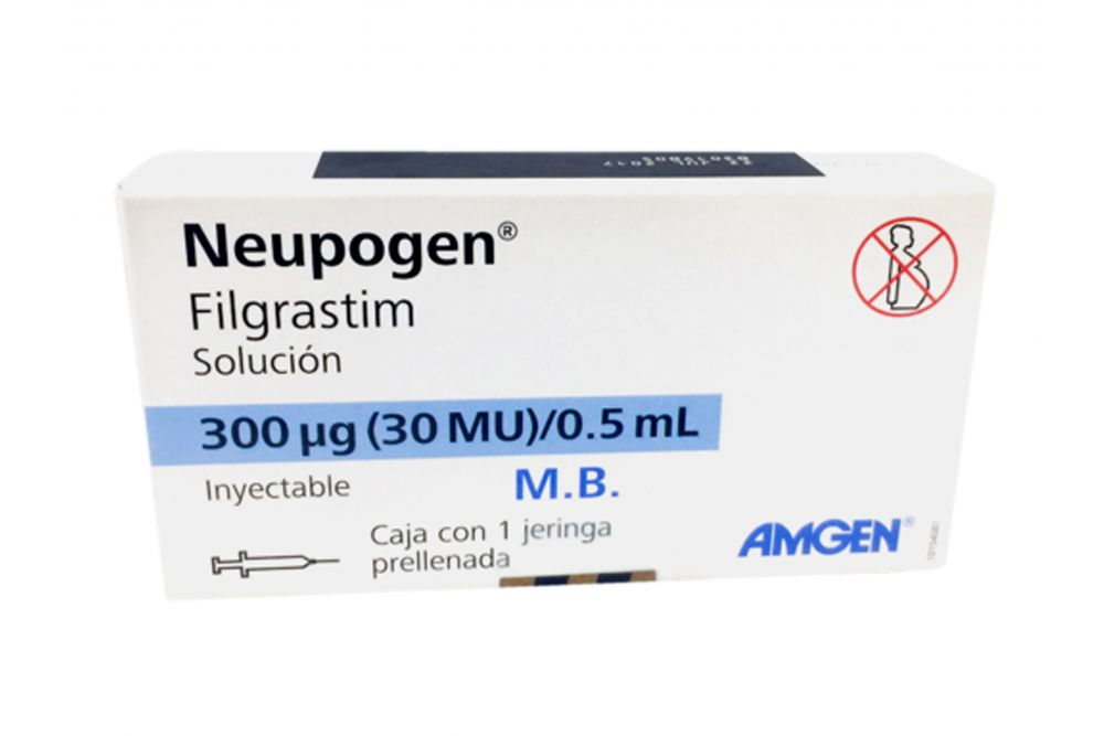 Neupogen Caja Con Jeringa Precargada De 300 Mcg RX3