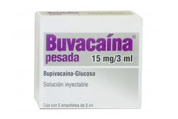 BUVACAINA PESADA 15 mg/3 mL Con 5 Ampolletas