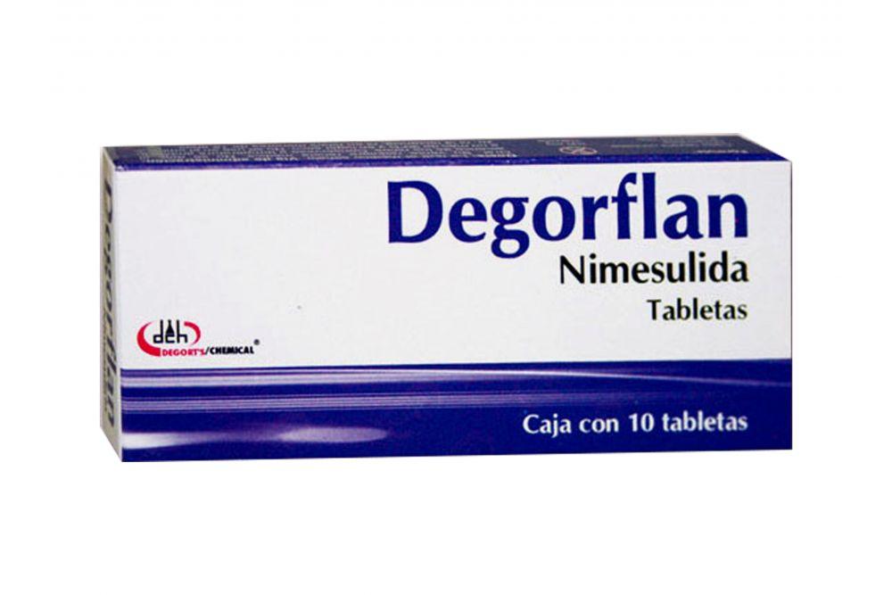 Degorflan 100 mg Caja Con 10 Tabletas