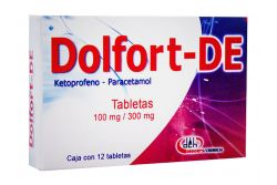 DOLFORT-DE 100 mg/300 mg Con 12 Tabletas