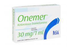 Onemer 30 mg Solución Inyectable Caja Con 3 Ampolletas