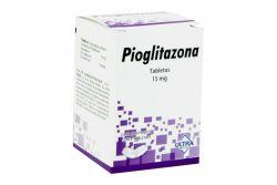 Pioglitazona 15 mg Caja Con Frasco Con 7 Tabletas