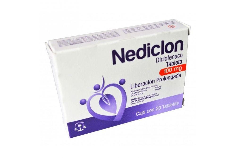 Nediclon 100 mg Caja Con 20 Tabletas