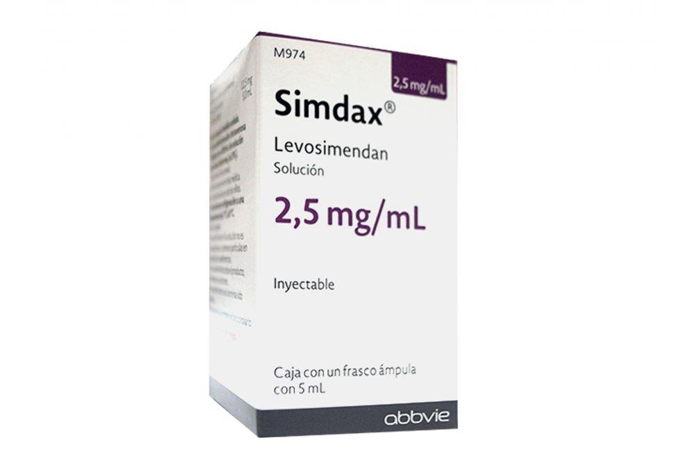 FRM-Simdax 2.5 mg Caja Con Frasco Ámpula Con 5mL -RX3