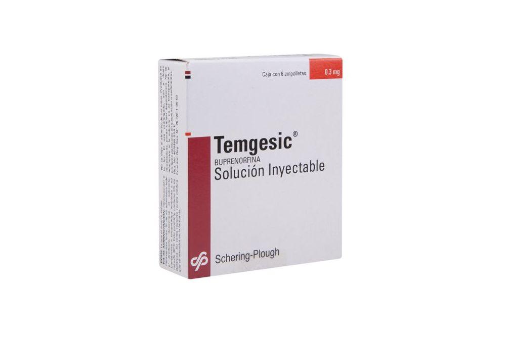 Temgesic 0.3 mg Caja Con 6 Ampolletas