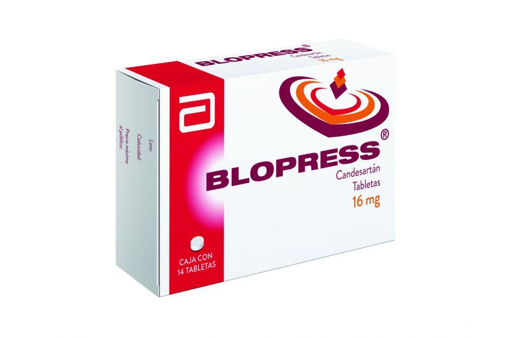 Blopress 16 mg Caja Con 14 Tabletas