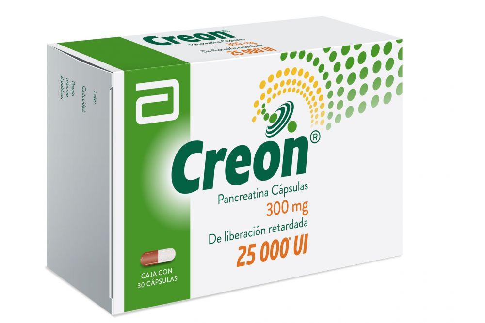 FRM-Creon 300 mg Caja Con 30 Cápsulas 25000 UI