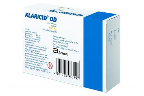 Klaricid Od 500 Mg 14 Tabletas Precio Farmacia En Mexico Y Df