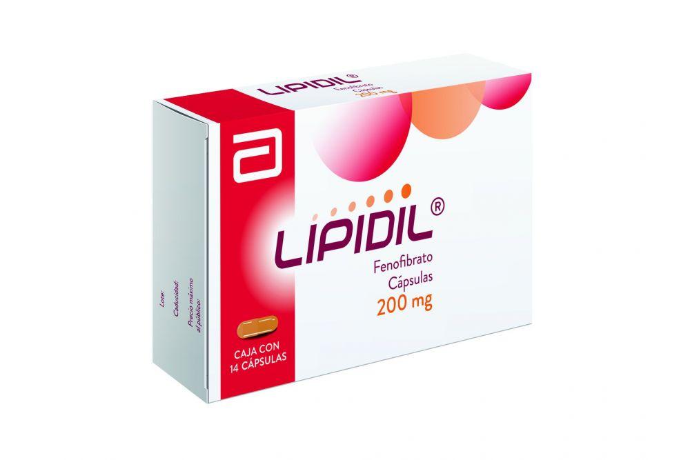 Lipidil 200 mg Caja Con 14 Cápsulas