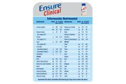 FRM-Ensure Clinical Envase Con 237 mL Sabor Vainilla