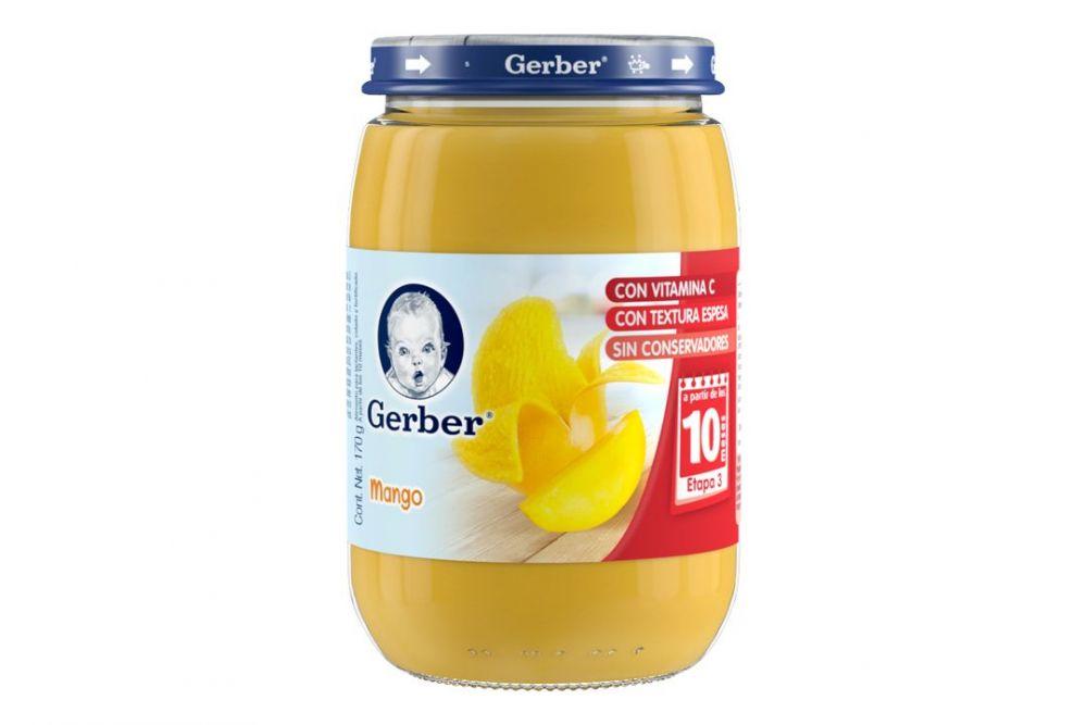 Gerber Papilla Mango 3Era Etapa Frasco Con 170 g