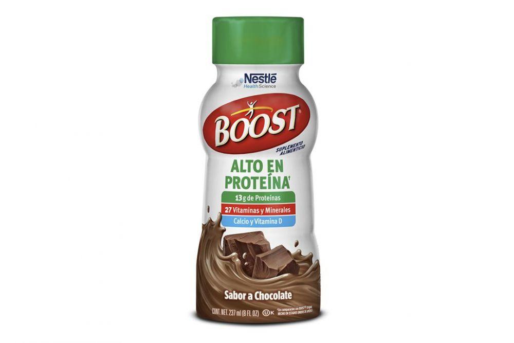 Boost Alto En Proteínas Sabor Chocolate Botella Con 237 mL