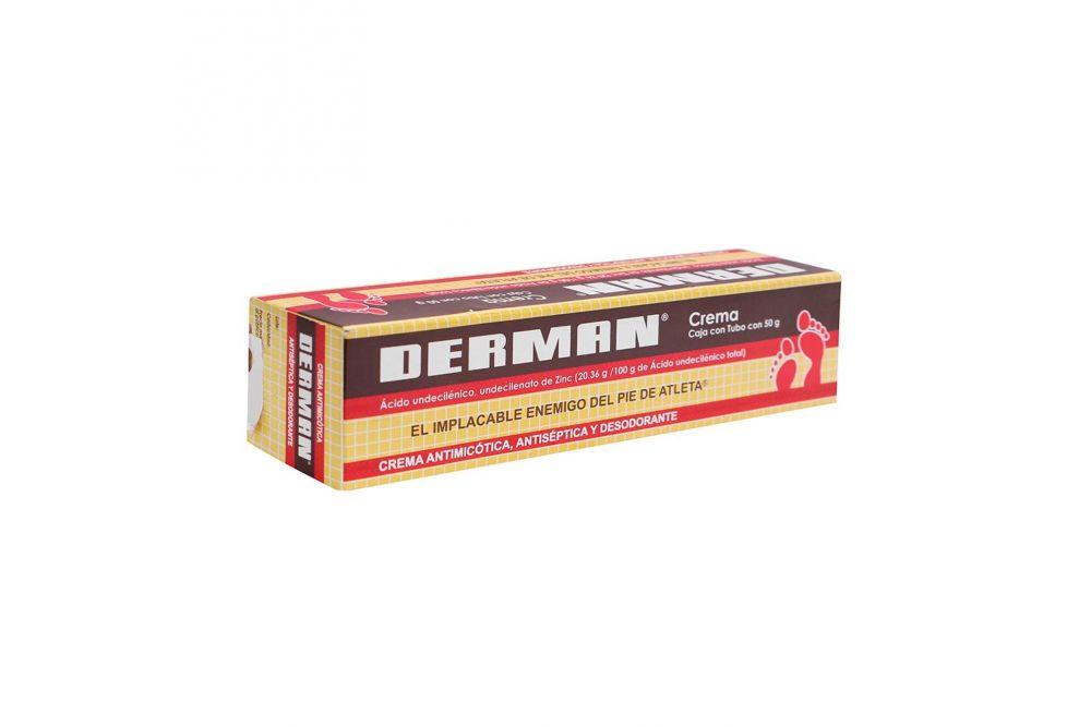 Derman Crema Fungicida Antiséptica y Desodorante  Caja Con Tubo Con 50 g