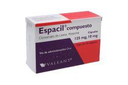 Espacil Compuesto 125 mg / 10 mg Caja Con 20 Cápsulas