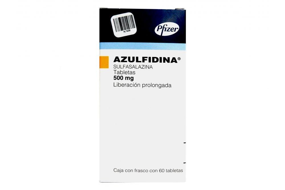 Azulfidina 500 mg Caja Con Frasco Con 60 Tabletas