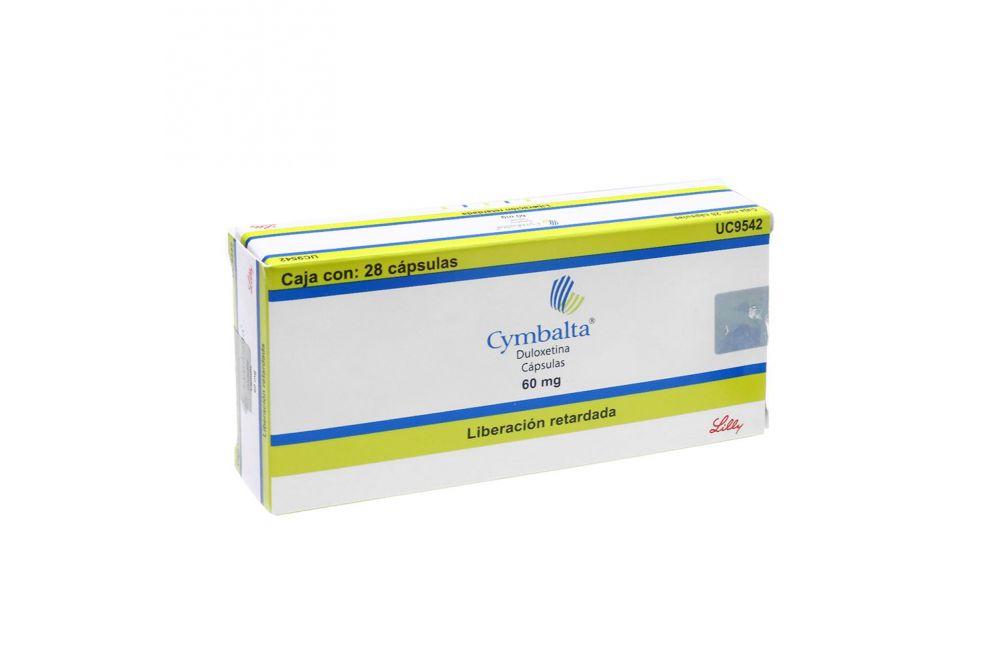 Cymbalta 60 mg Caja Con 28 Cápsulas De Liberación Retardada