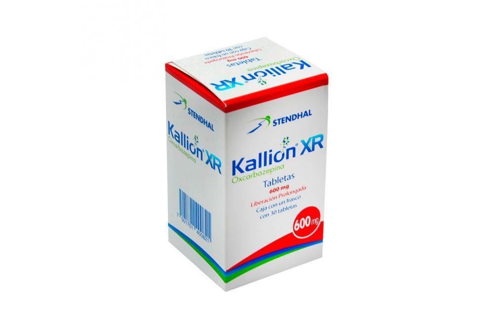 Kallion Xr 600 mg Caja Con 30 Tabletas
