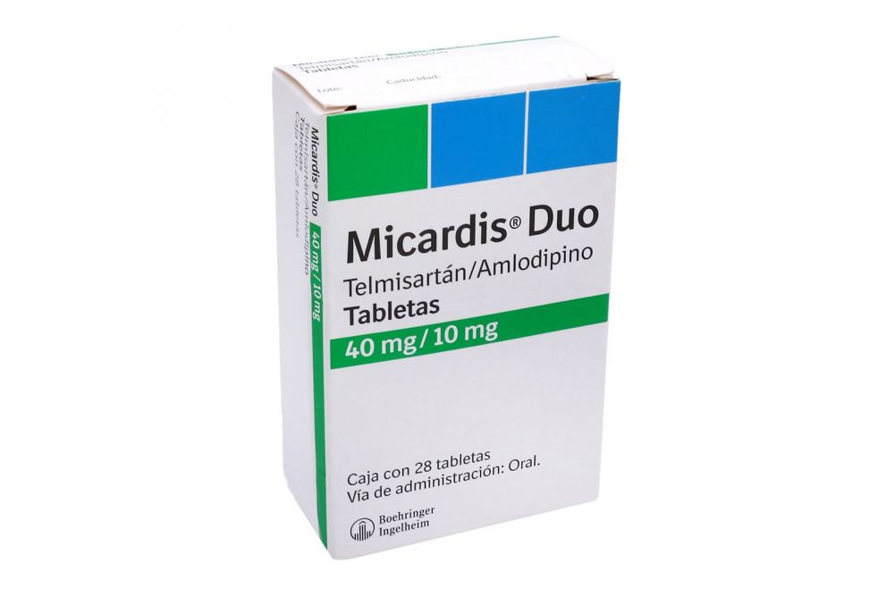 Micardis Duo 40mg/10mg Caja Con 28 Tabletas