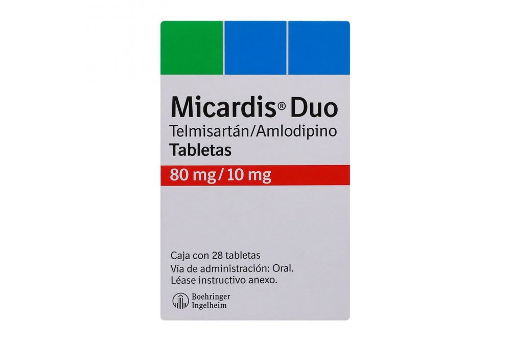 Micardis Duo 80mg/10mg Caja Con 28 Tabletas