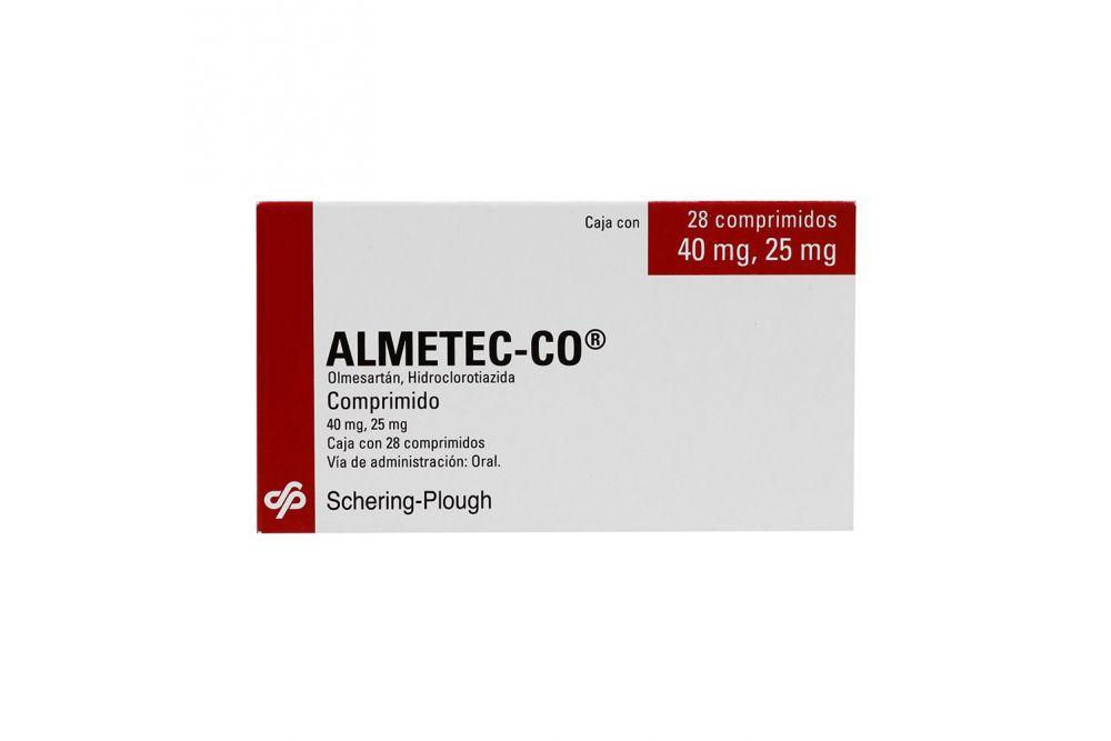 Almetec Co 40 mg /25 mg Caja Con 28 Comprimidos
