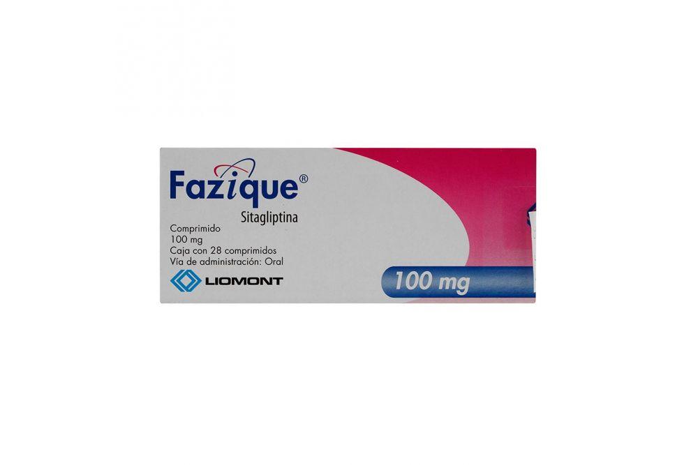 Fazique 100 mg Caja Con 28 Comprimidos
